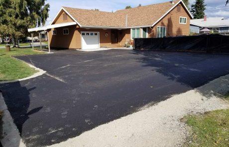 Pave a driveway